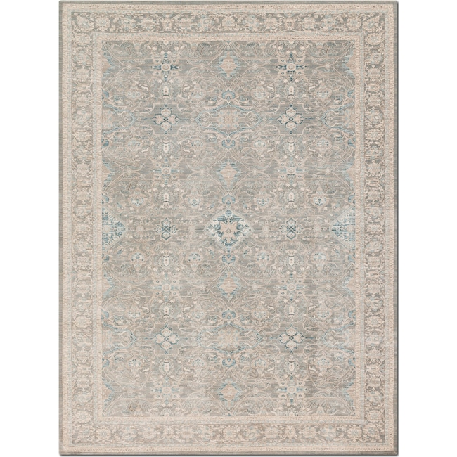 Rugs - Ella Rose 7' x 9' Rug - Steel