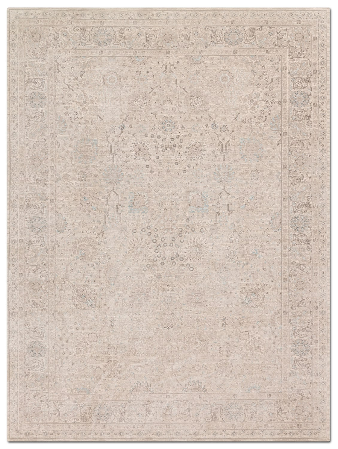 Rugs - Ella Rose 5' x 8' Rug - Natural