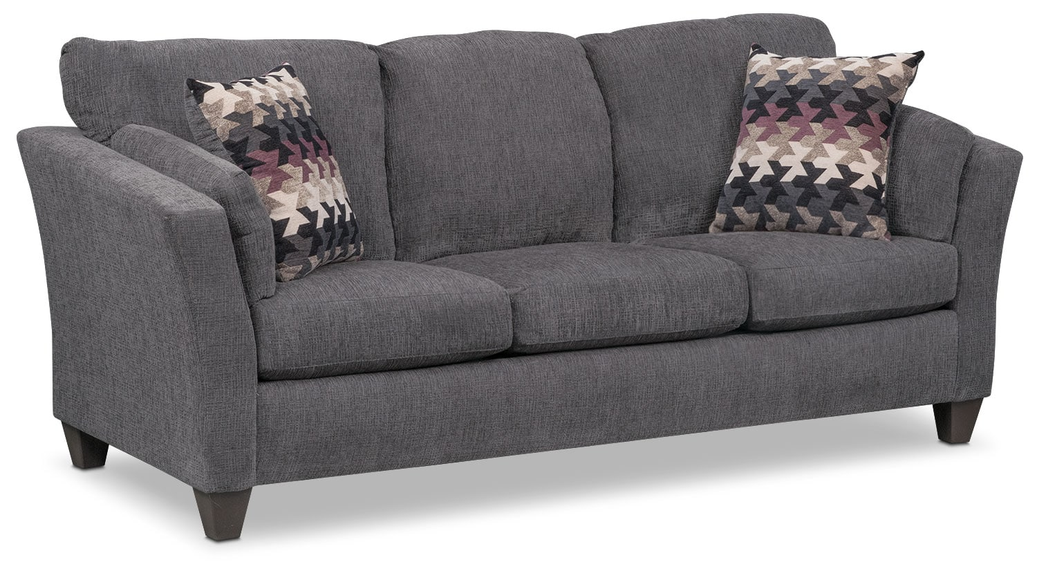 Juno Queen Memory Foam Sleeper Sofa - Smoke