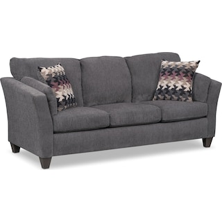 Juno Queen Innerspring Sleeper Sofa - Smoke