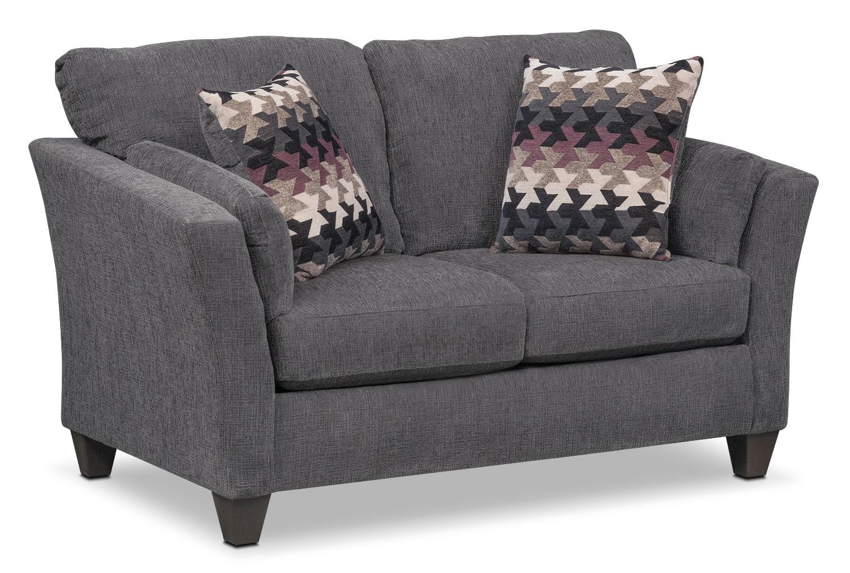 Living Room Furniture - Juno Loveseat - Smoke
