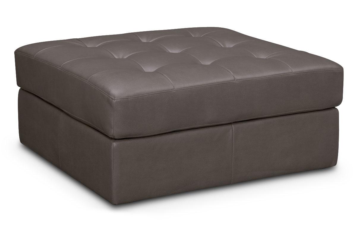 Living Room Furniture - Cayenne Ottoman - Gray