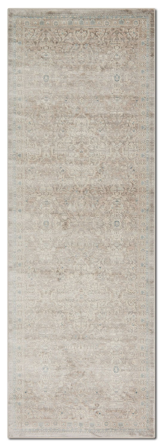 Ella Rose 3' x 8' Rug - Pewter