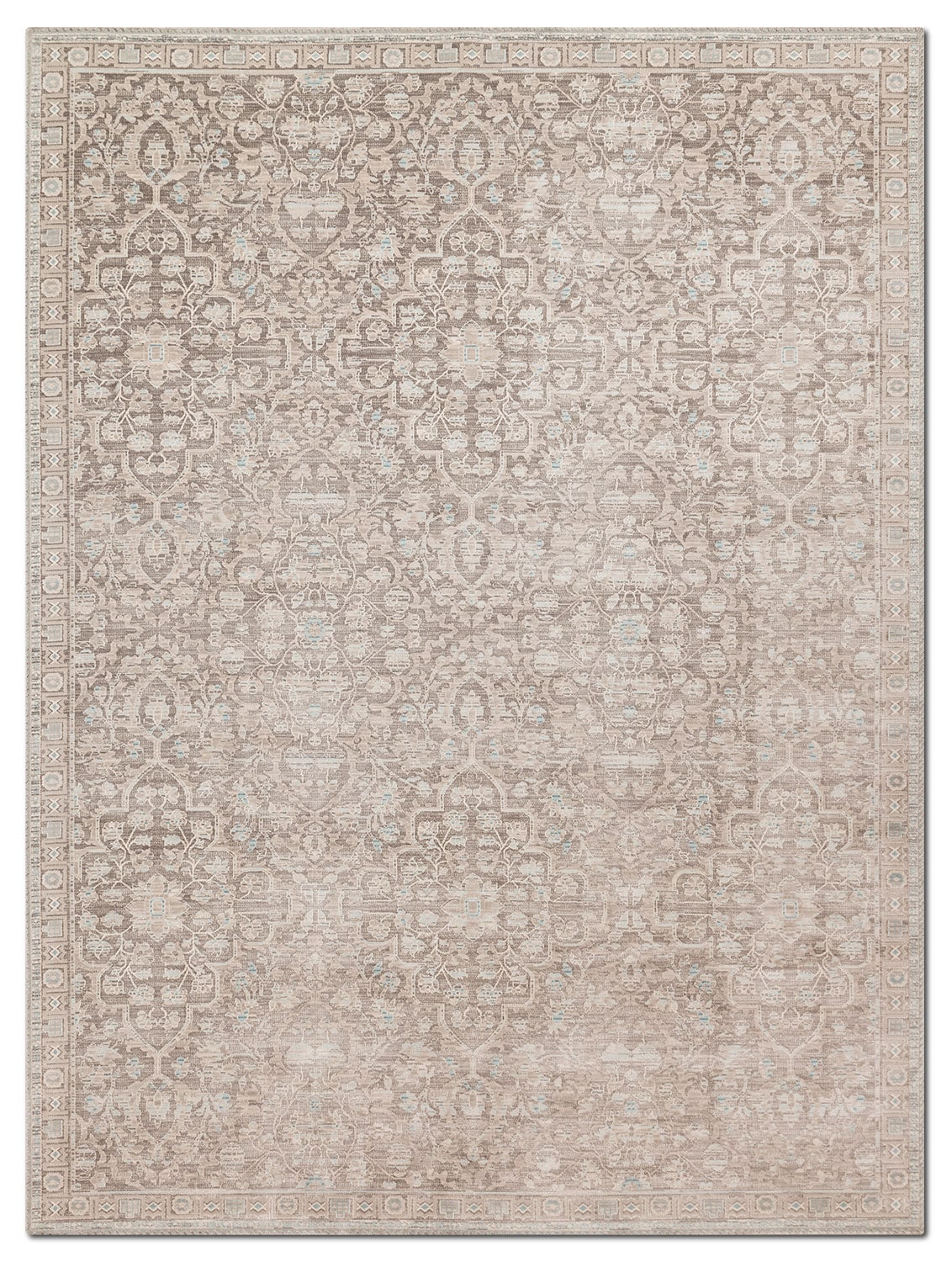 Rugs - Ella Rose 4' x 6' Rug - Pewter