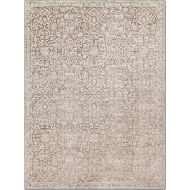 Rugs - Ella Rose 7' x 11' Rug - Pewter