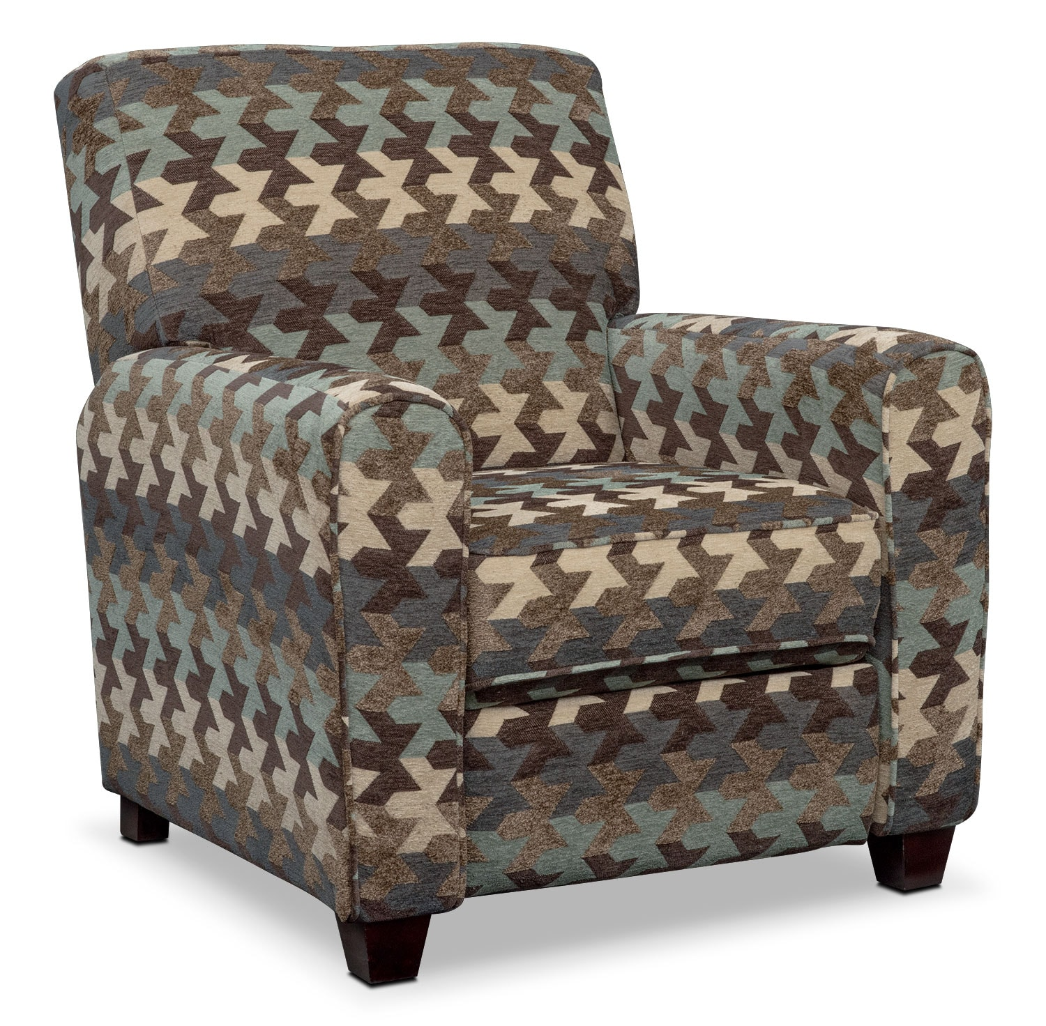 Living Room Furniture - Juno Push-Back Recliner - Chocolate