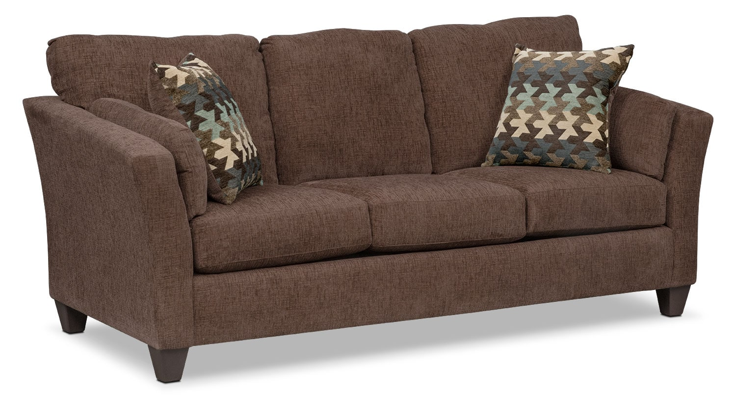 Juno Queen Innerspring Sleeper Sofa - Chocolate