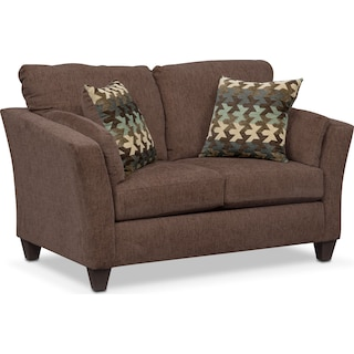Juno Loveseat - Chocolate