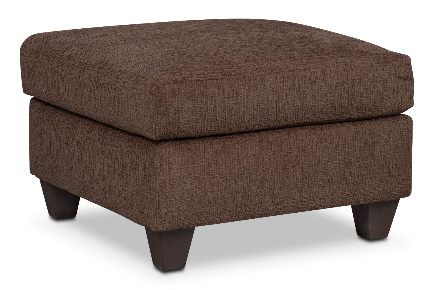 Living Room Furniture - Juno Ottoman - Chocolate