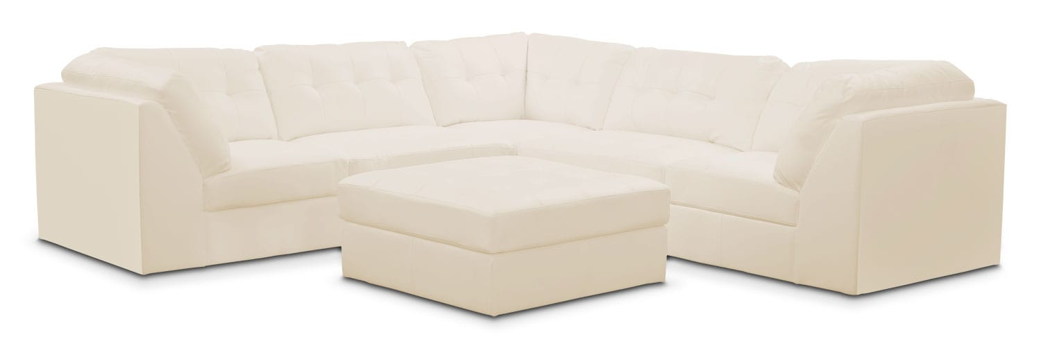 Cayenne 6-Piece Modular Sectional - White