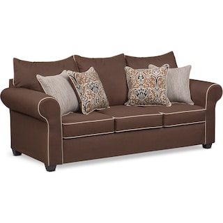 Carla Queen Innerspring Sleeper Sofa - Chocolate