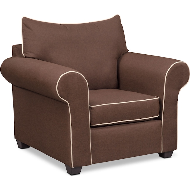 Living Room Furniture - Carla Chair - Chocolate