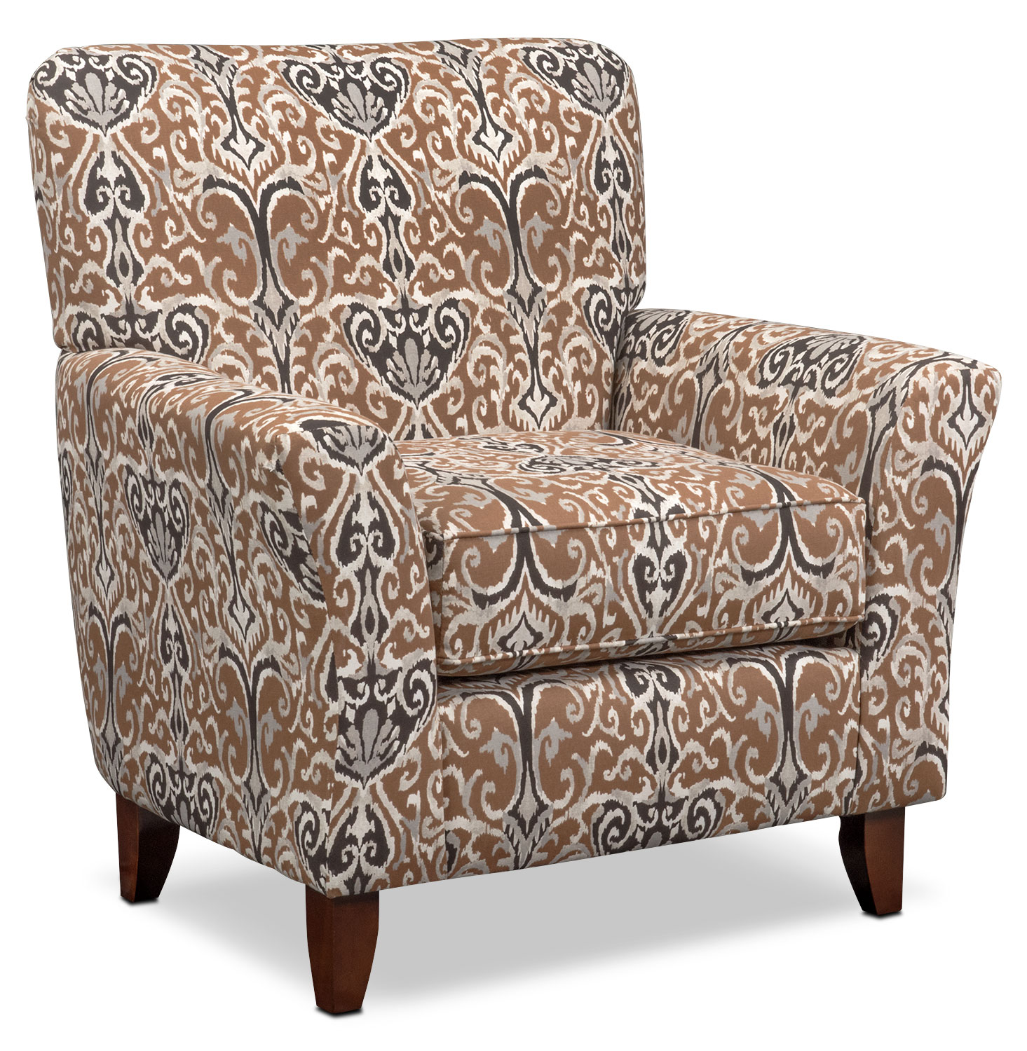 Carla Accent Chair - Chocolate Multi
