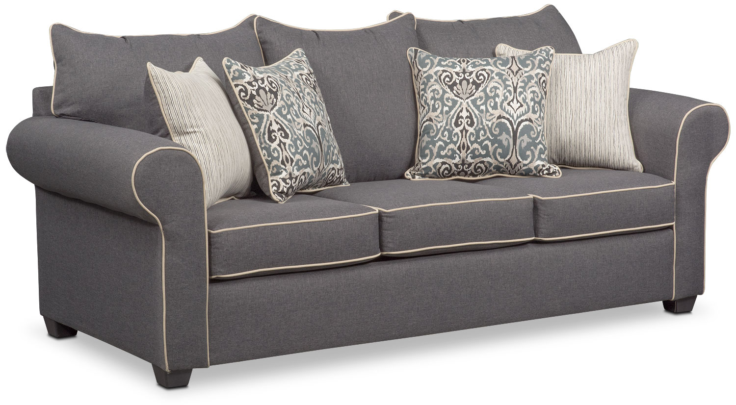 Carla Sofa Loveseat And Accent Chair Set Gray American  ~ Sofa Loveseat And Chair Sets
