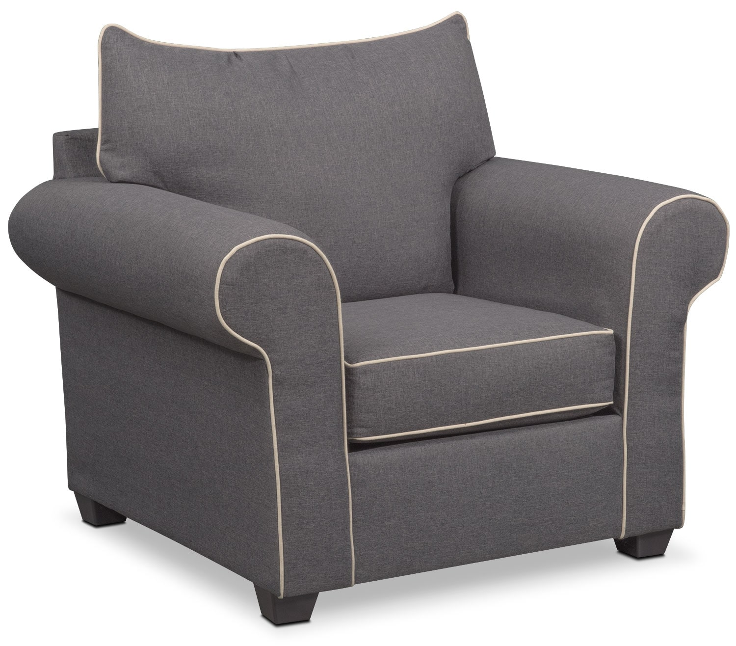 Living Room Furniture - Carla Chair - Gray