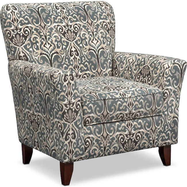Living Room Furniture - Carla Accent Chair - Gray