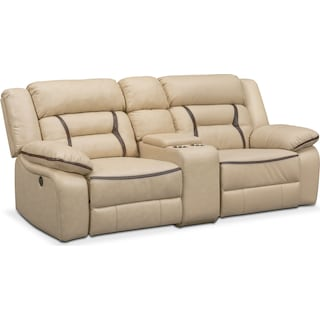 Remi 3-Piece Power Reclining Sofa - Cream