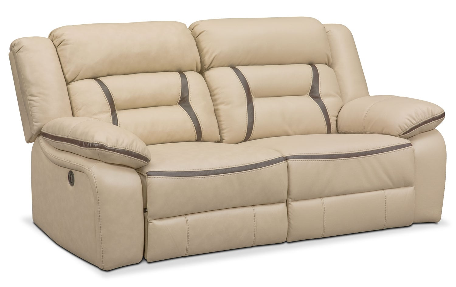 Living Room Furniture - Remi 2-Piece Power Reclining Sofa - Cream