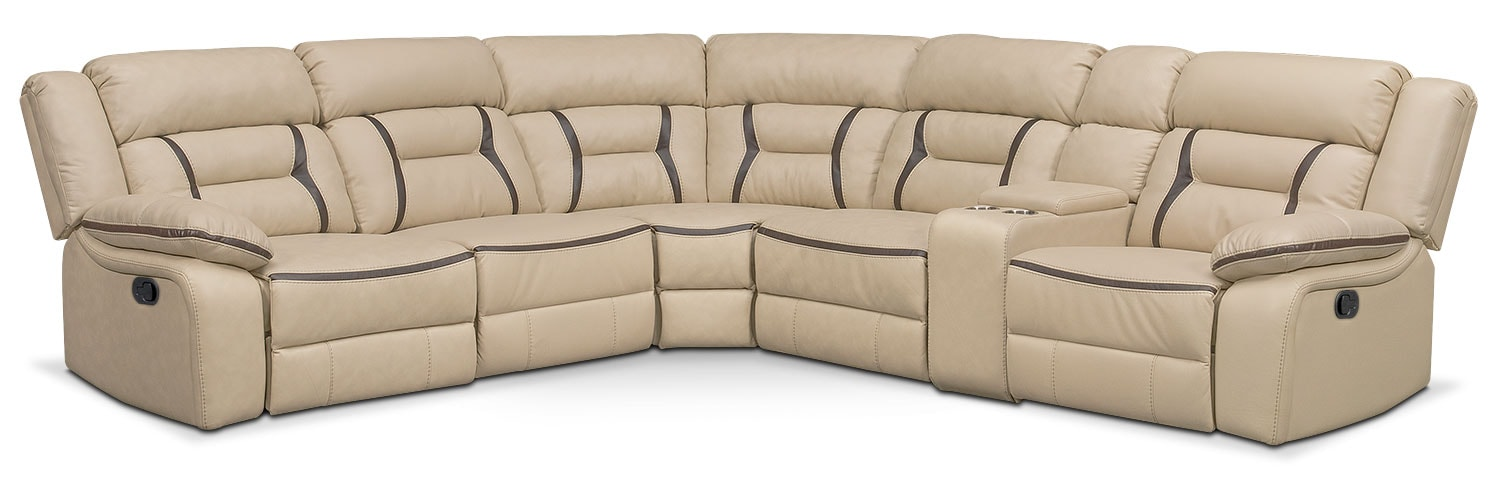 The Remi Manual Reclining Collection - Cream