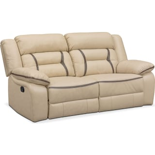 Remi 2-Piece Reclining Sofa - Cream