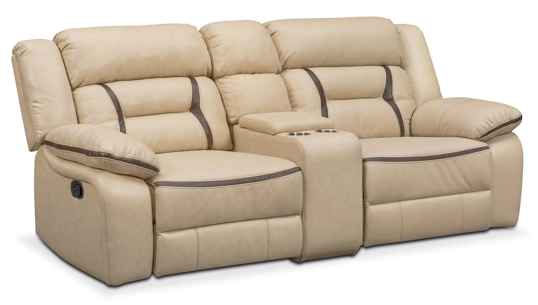 Cream Leather Reclining Sofa Remi 3 Piece Reclining Sofa