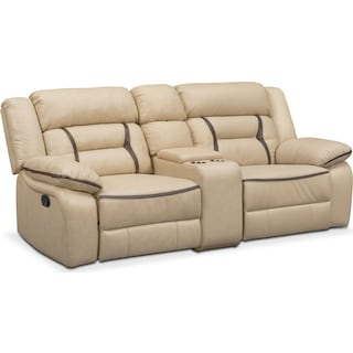 Remi 3-Piece Reclining Sofa - Cream