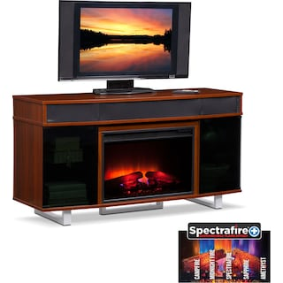 "Pacer 56"" Traditional Fireplace TV Stand with Sound Bar - Cherry"