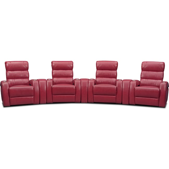 Living Room Furniture - Bravo 7-Piece Power Reclining Home Theater Sectional