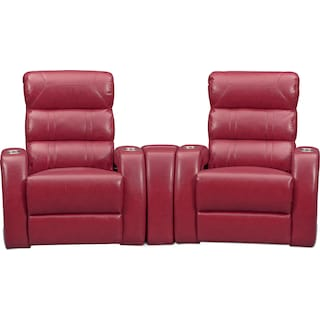 Bravo 3-Piece Dual-Power Reclining Home Theater Sectional with 2 Reclining Seats