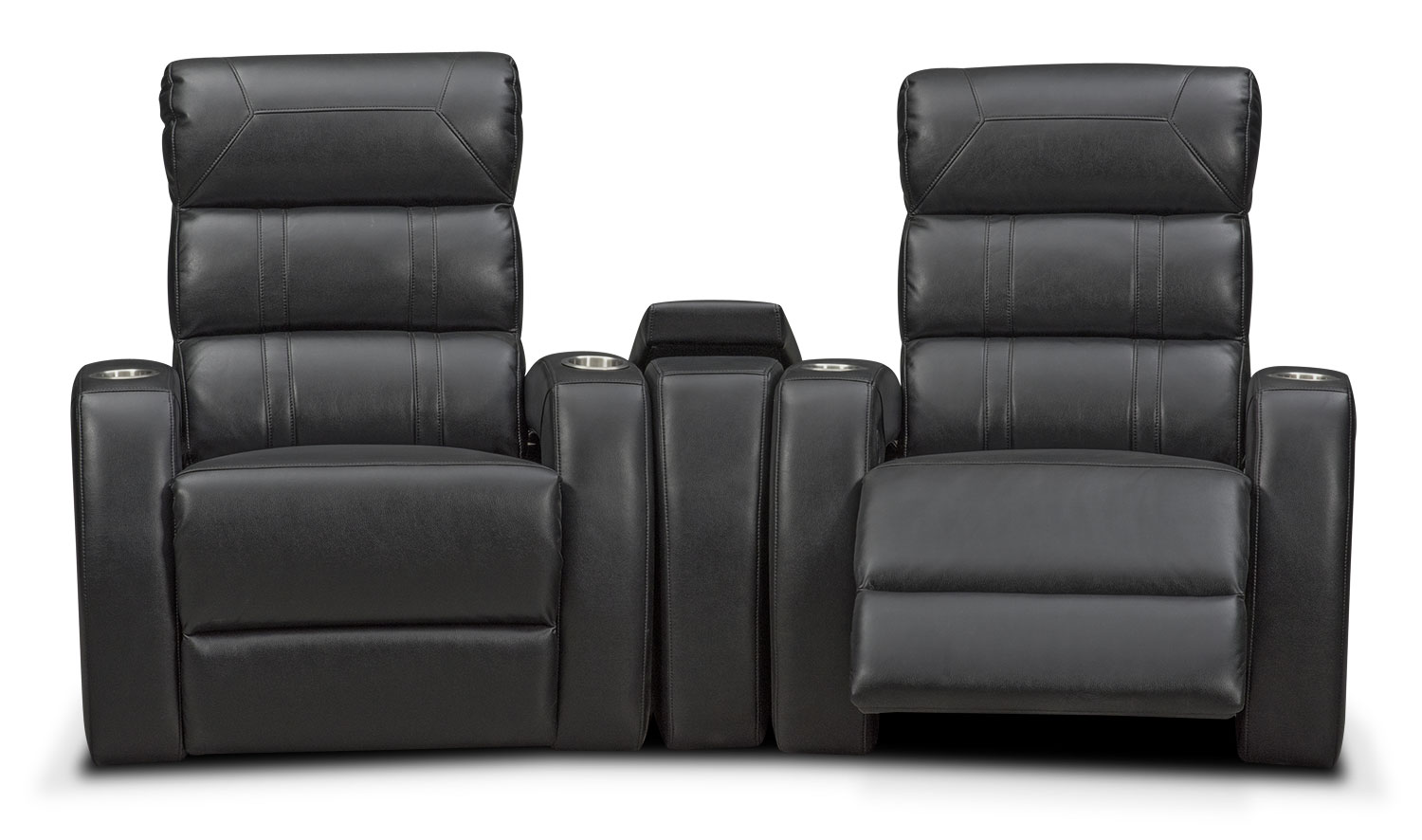Bravo 3 Piece Power Reclining Home Theater Sectional Black