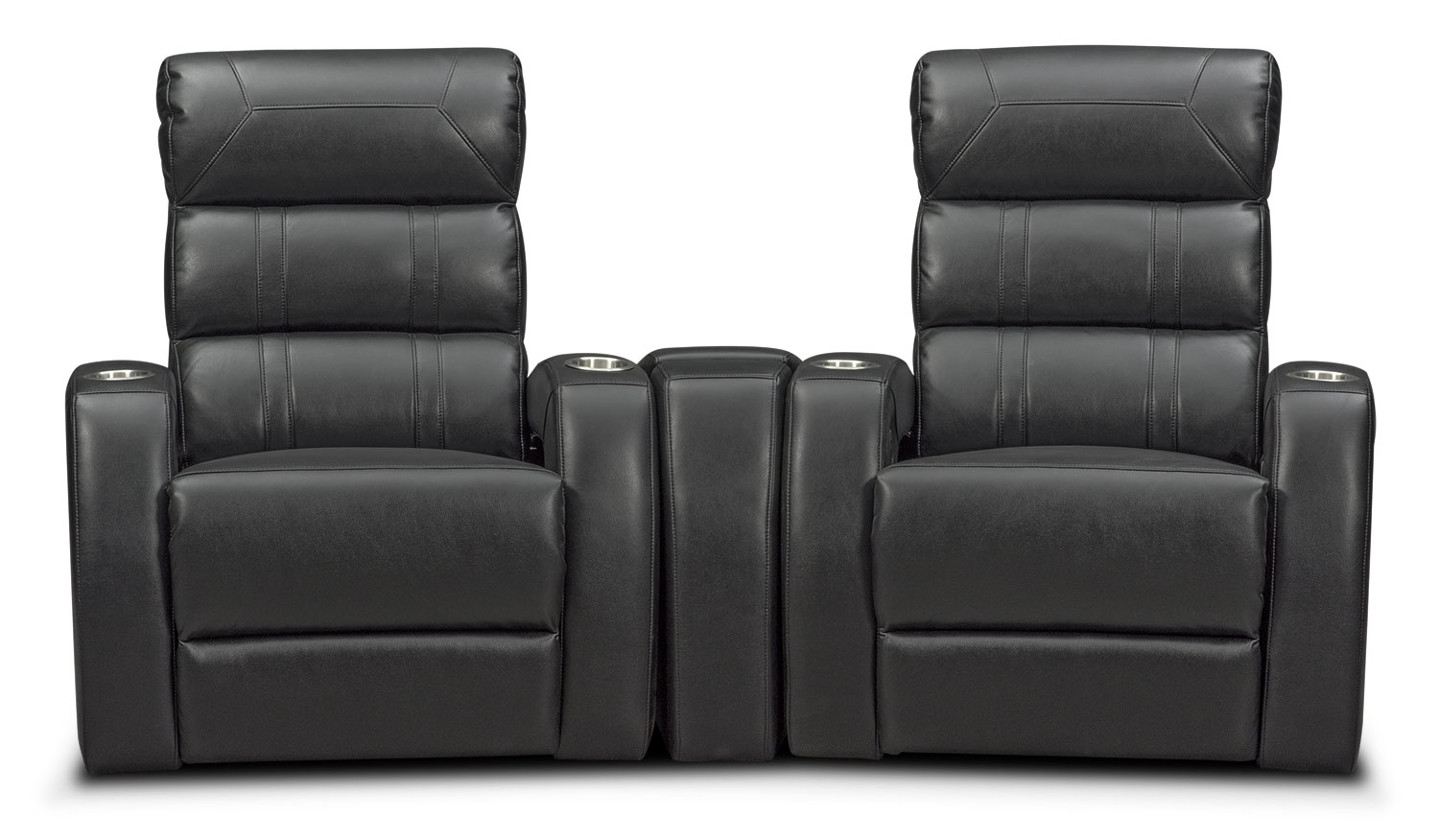 Bravo 3-Piece Power Reclining Home Theater Sectional - Black
