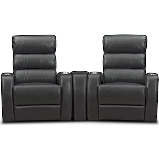Bravo 3-Piece Power Reclining Home Theater Sectional