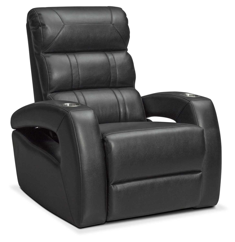 Living Room Furniture - Bravo Power Recliner - Black