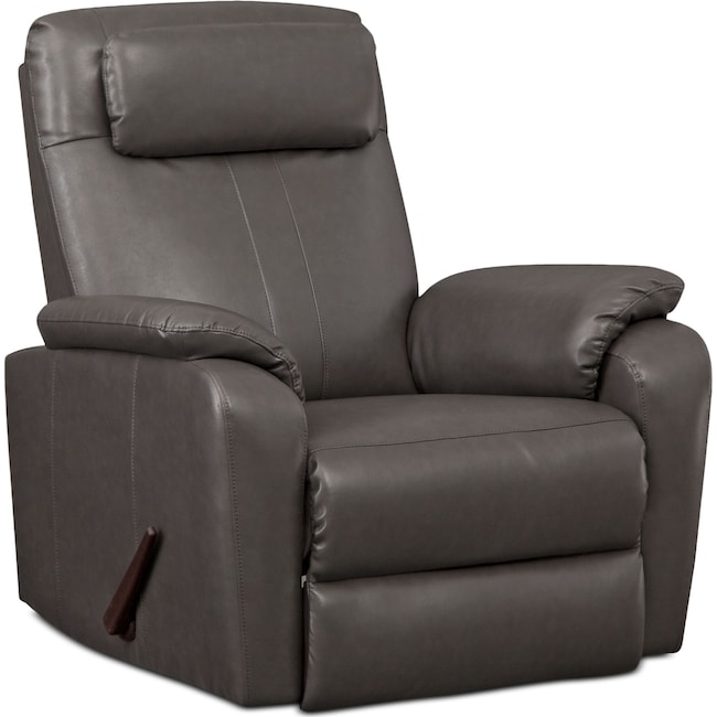 Living Room Furniture - Sparta Rocker Recliner - Gray