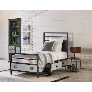 The Industrial Metal Stair Rail Youth Bed Collection