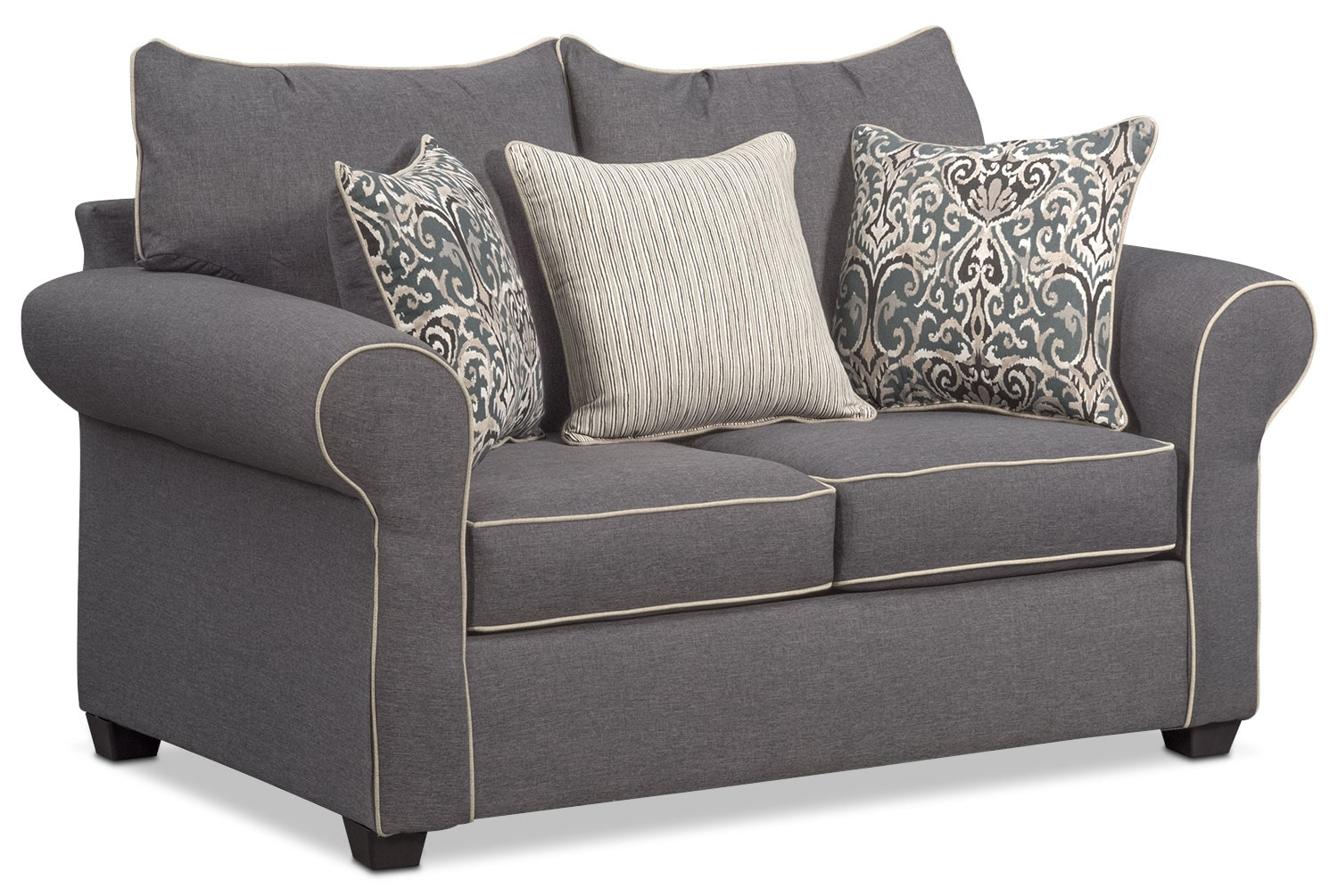 Carla sofa and loveseat set gray