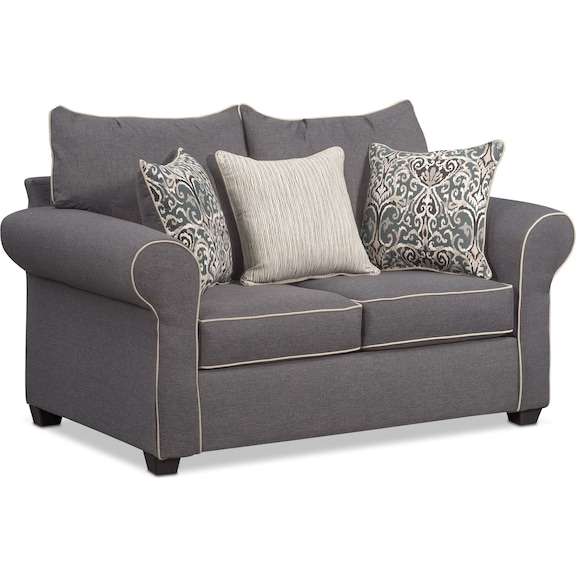 The Carla Collection Gray American Signature Furniture