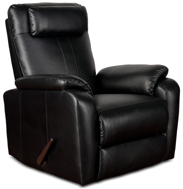 sparta rocker recliner black