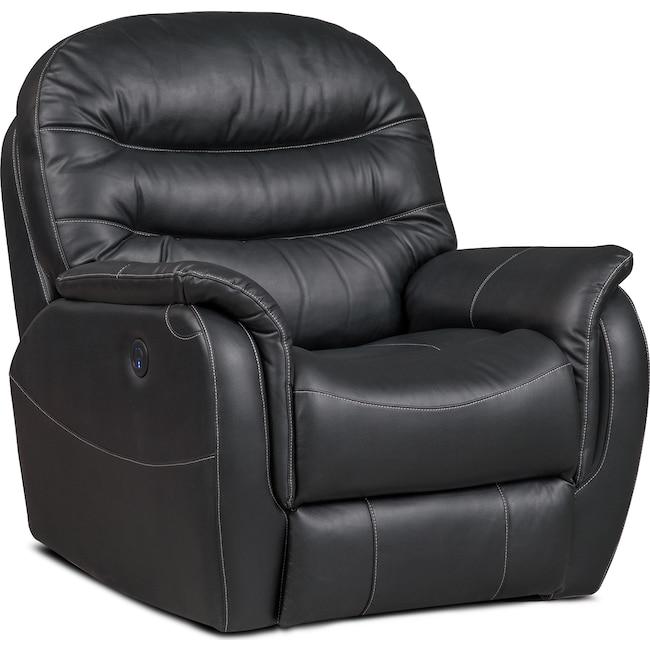 Living Room Furniture - Milo Power Recliner - Black