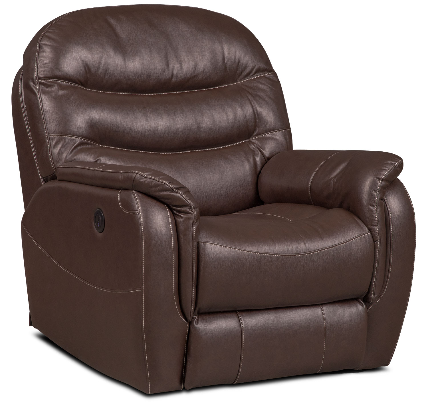 Living Room Furniture - Milo Power Recliner - Chocolate