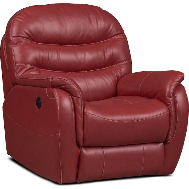 Living Room Furniture - Milo Power Recliner - Red