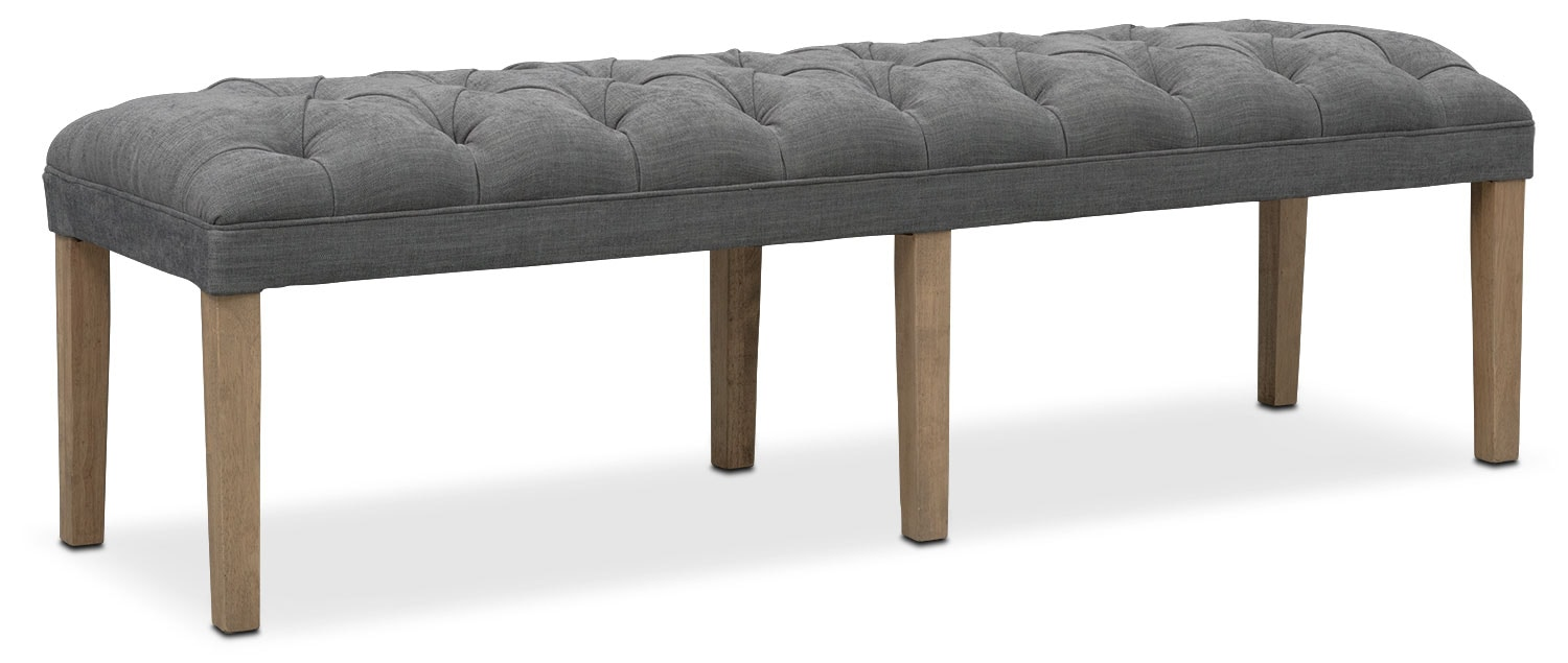 Gretchen Dining Bench - Gray