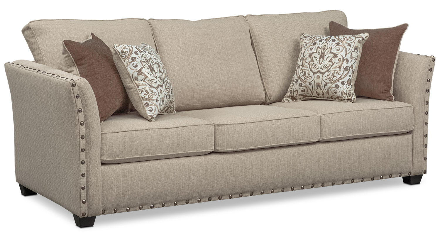 Mckenna Queen Memory Foam Sleeper Sofa - Sand