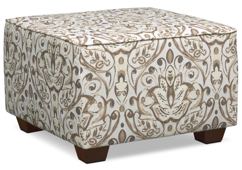 Living Room Furniture - Mckenna Accent Ottoman - Multi Sand