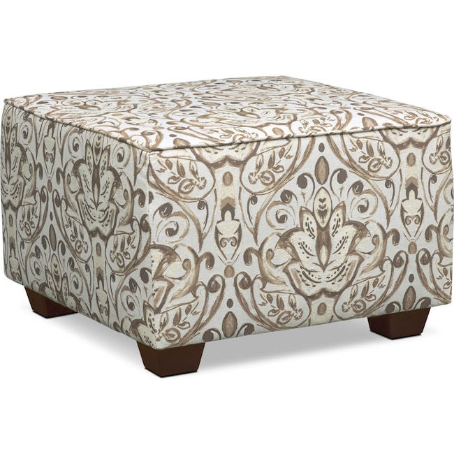 Living Room Furniture - Mckenna Accent Ottoman - Sand