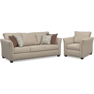 Mckenna Sofa and Chair - Sand