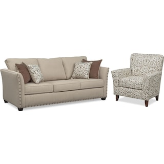 Mckenna Queen Sleeper Sofa and Accent Chair Set