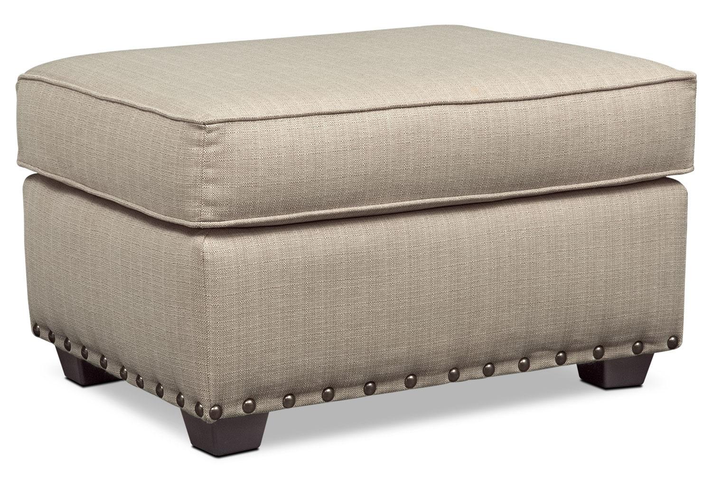Living Room Furniture - Mckenna Ottoman - Sand