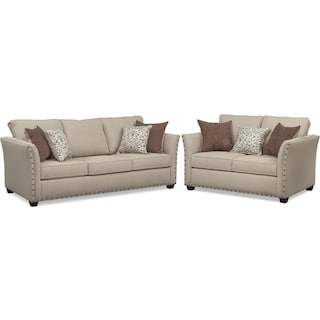 Mckenna Queen Sleeper Sofa and Loveseat Set
