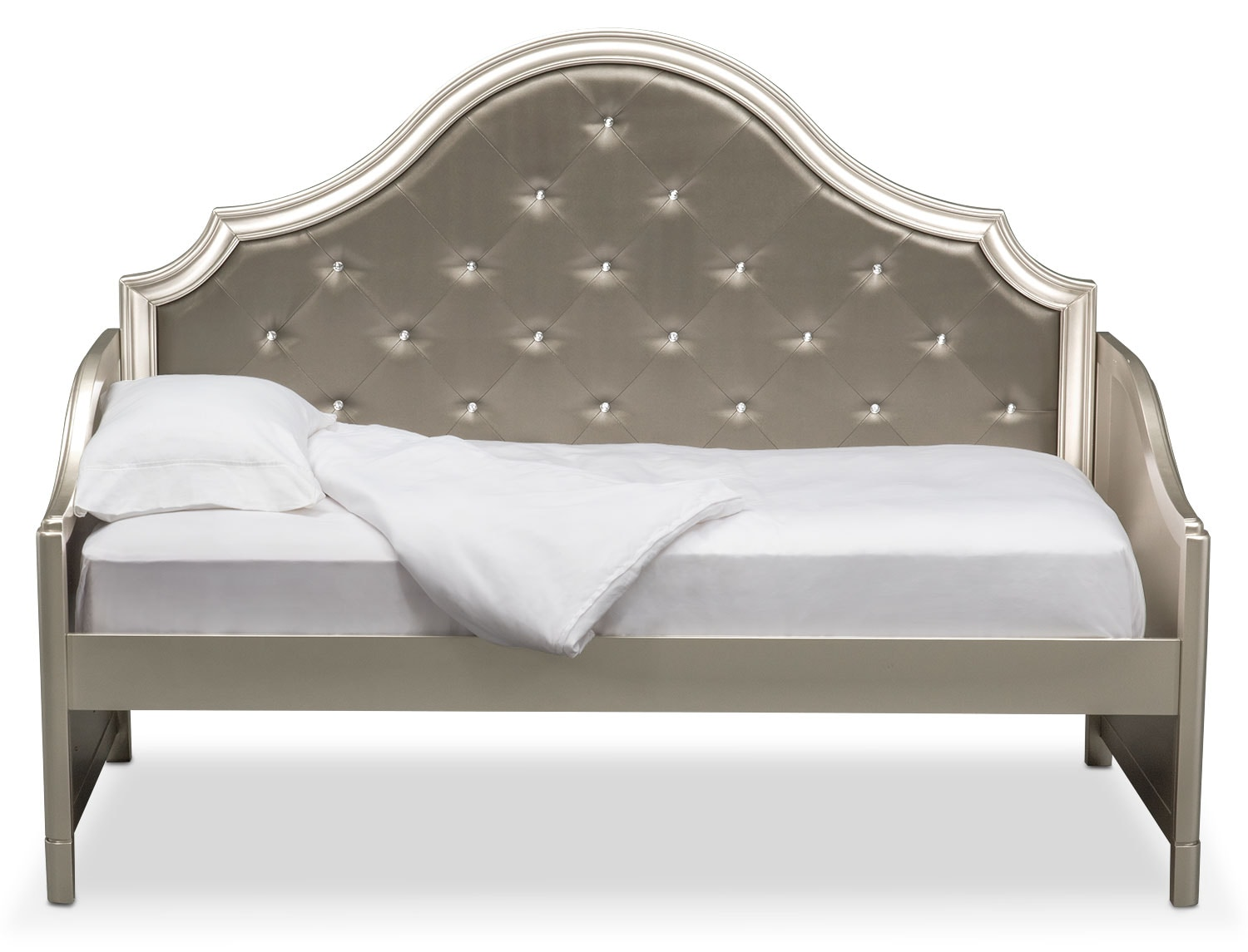 Bedroom Furniture - Serena Twin Daybed - Platinum